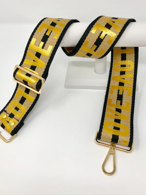LOVE Strap in Black and Tan Stripe