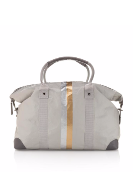 Weekender in Grey with Double Metallic Stripe