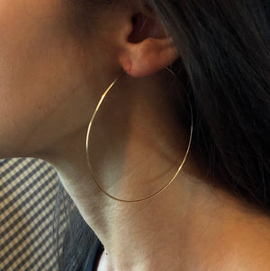 Gold Whisper Hoops