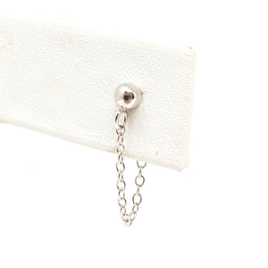Ball and Chain Studs in Silver