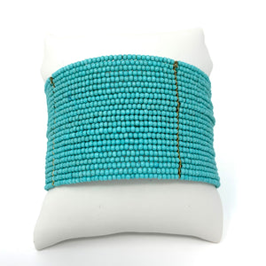 Beaded Cuff in Turquoise