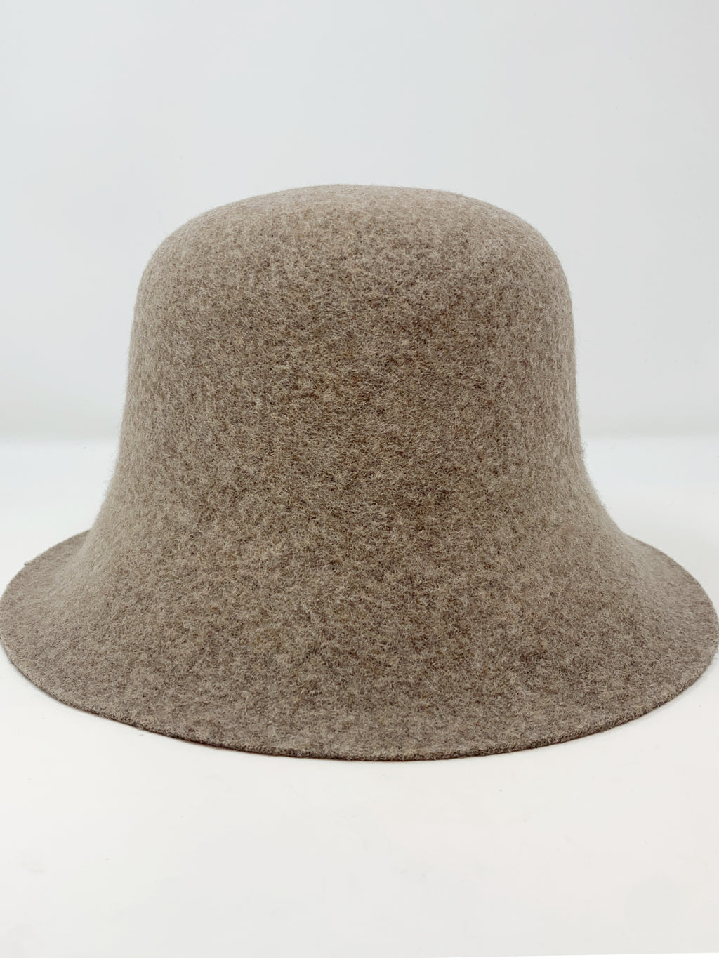 Felt Bucket Hat in Beige