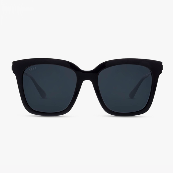 Bella Black with Matte Black Temples and Polarized Grey Lens