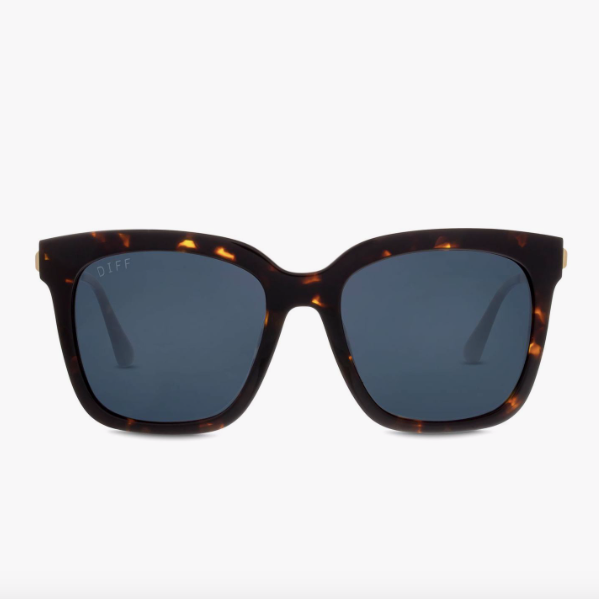 Bella Tortoise with Gold Temples and Polarized Grey Lens