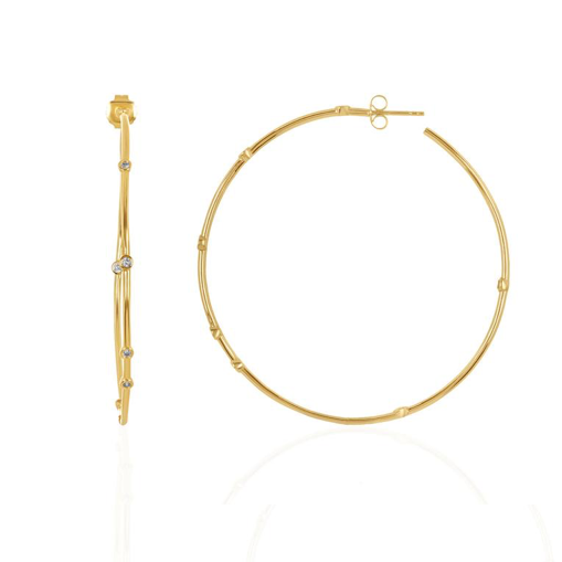 "Big A** 2"" Hoops in Gold"