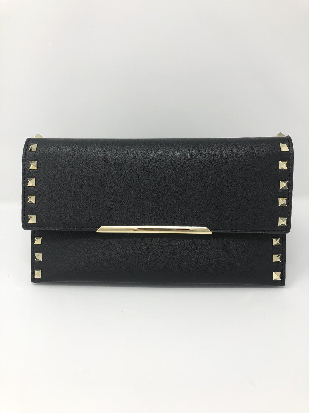 SALE! Black and Gold Studded Clutch