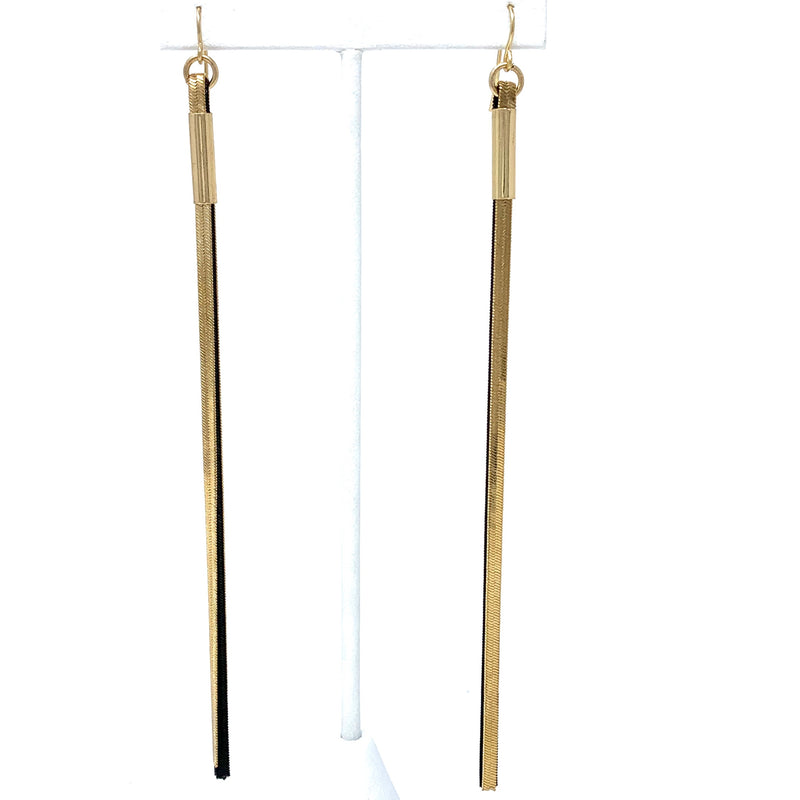 SALE! Black and Gold Swing Earrings
