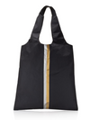 Black Carryall Tote with a Double Metallic Line