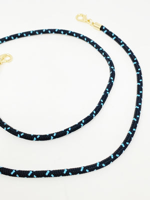 Mask Chain in Black and Turquoise Cording