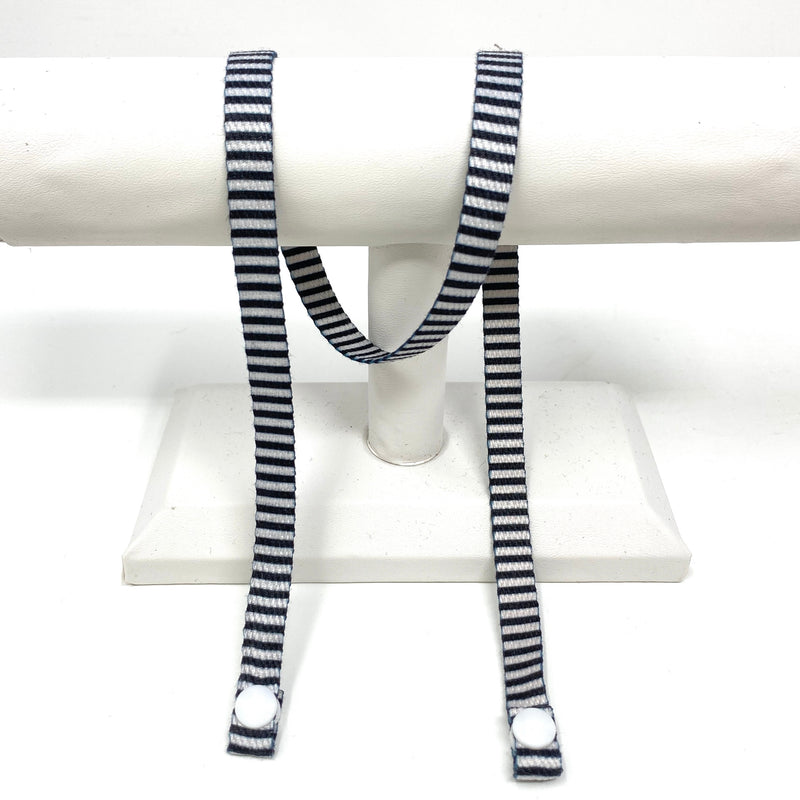 SALE! KIDS Twill Mask Strap in Black and White Stripe