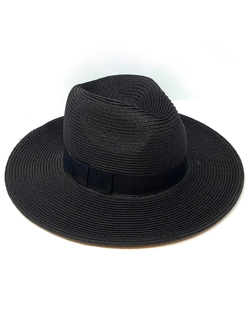 Lexi Foldable and Packable Panama Hat in Black