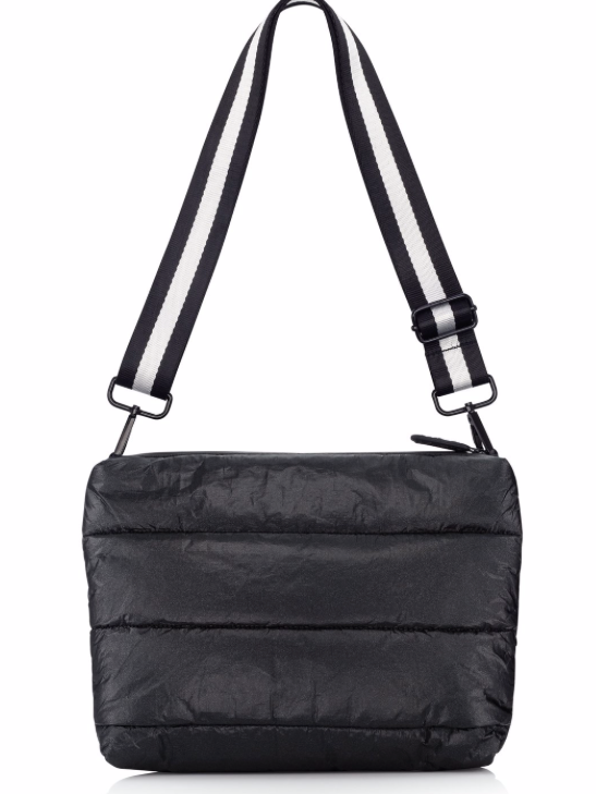Puffer Crossbody Bag in Black