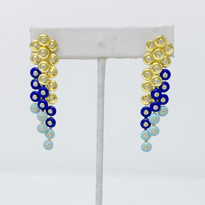 Blue Baubbles Earrings