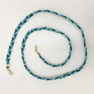 SALE! Mask Chain in Green and Blue Braid