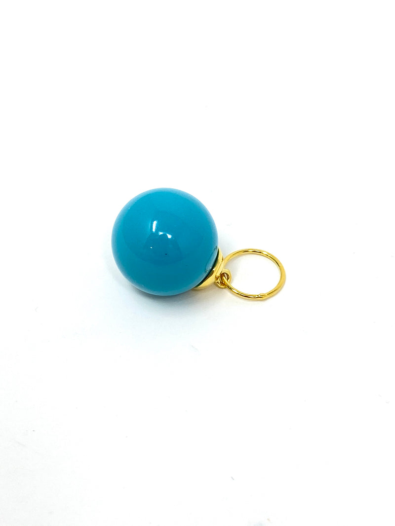 Charming Turquoise Ball Charm