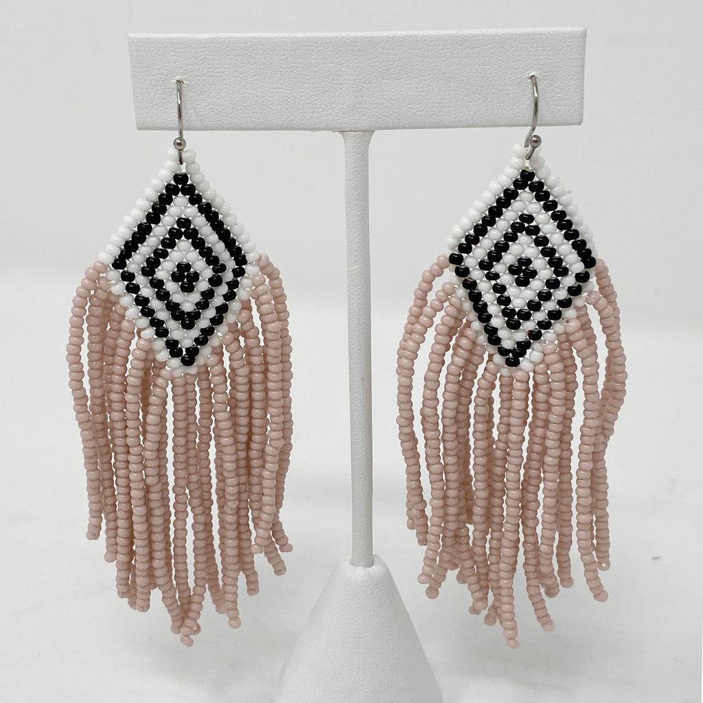 Conch Beaded Earrings