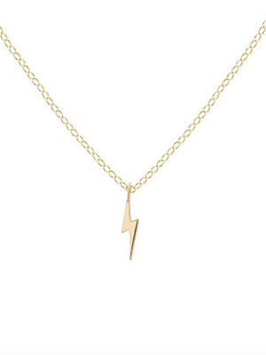 KN Bolt Necklace in Gold