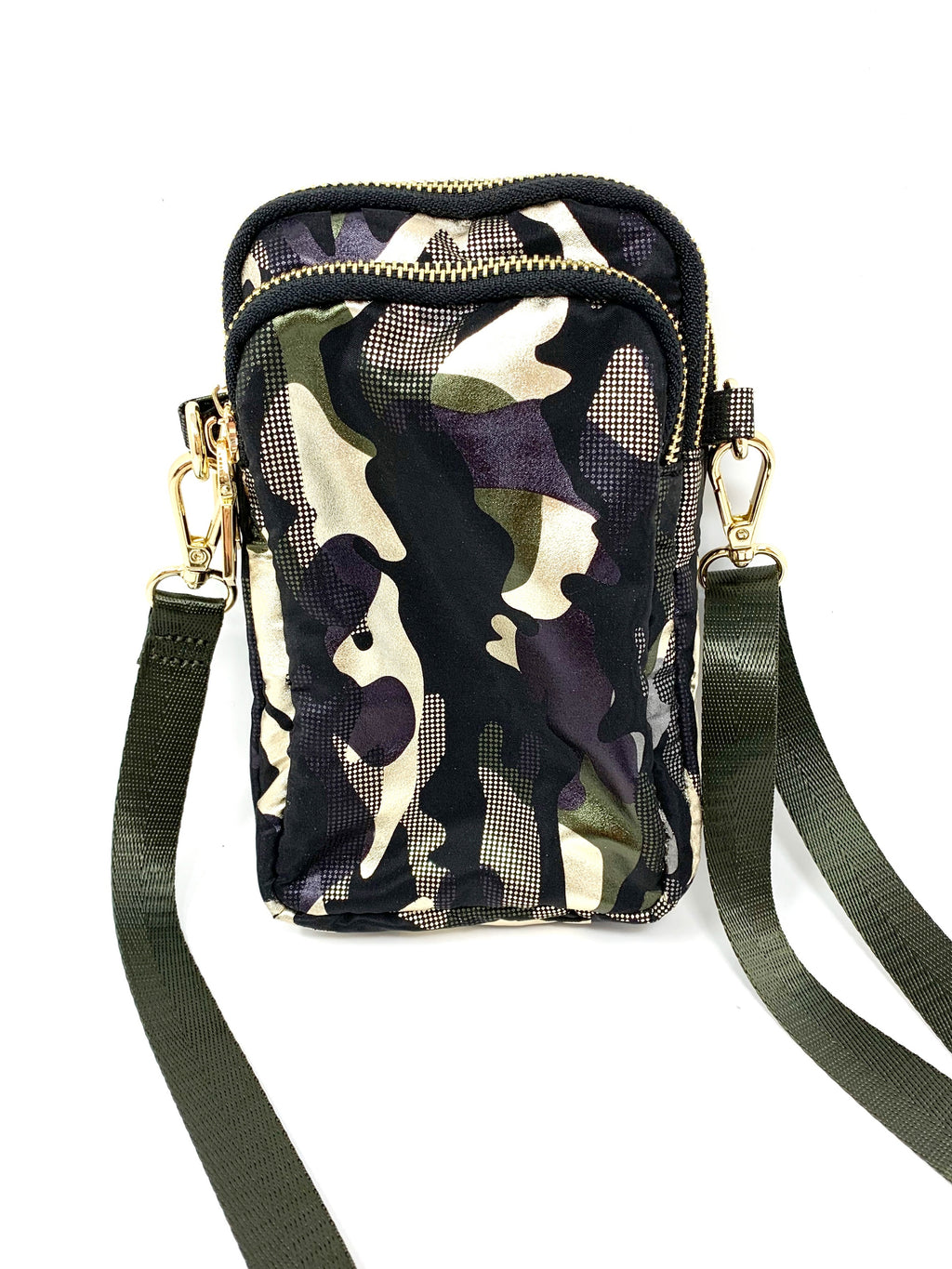 Cell Bag in Metallic Camo
