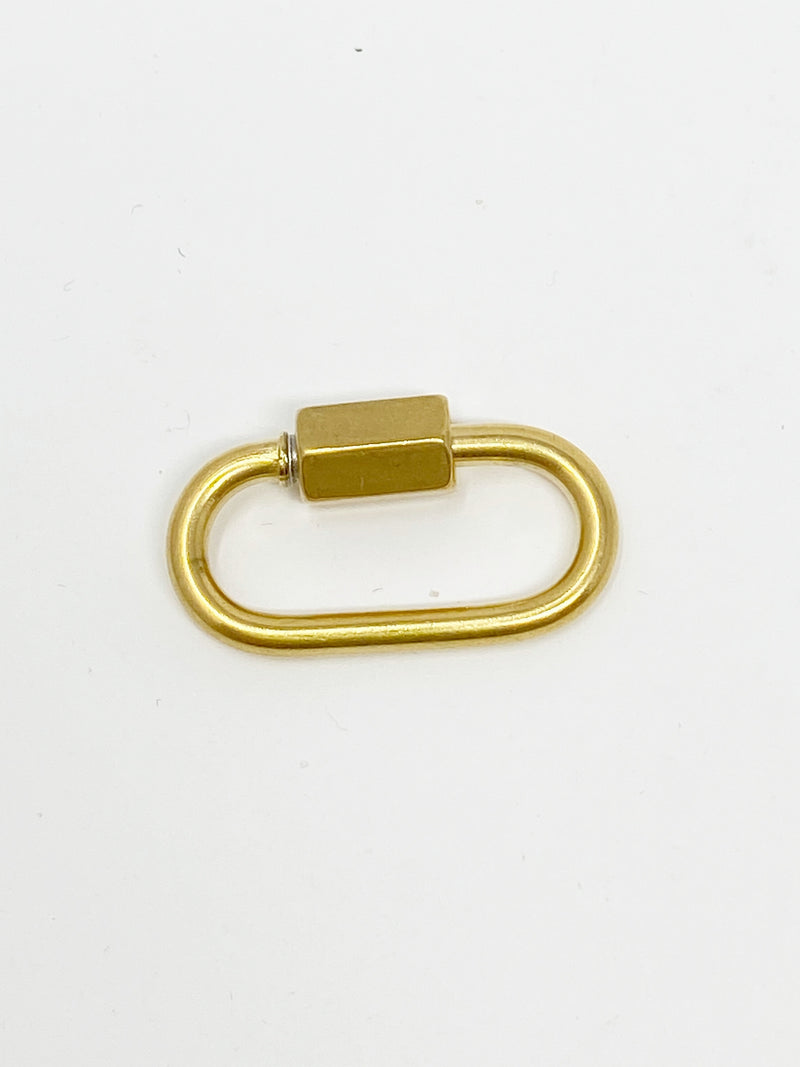 Charming Carabiner Clip in Gold