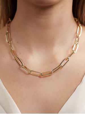 Carrie Oversized Chainlink Necklace in Gold