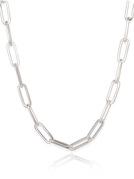 Carrie Oversized Chainlink Necklace in Silver