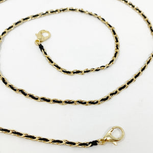 SALE! CC MINI Chainlink Mask Chain in Gold with Black