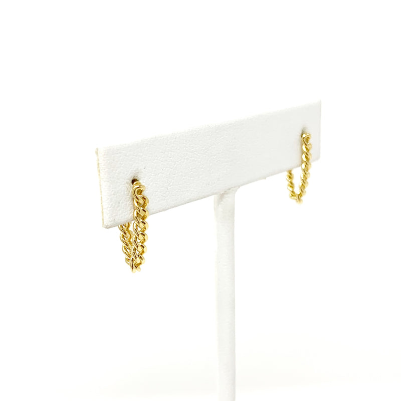 Chain Studs in Gold
