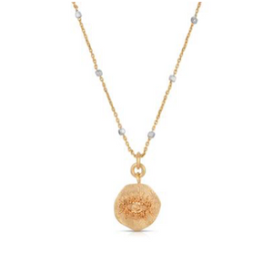 The Champagne Jeweled Evil Eye Necklace