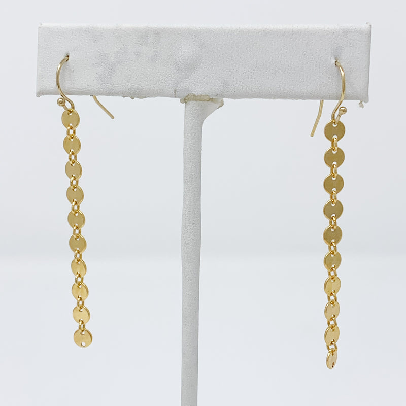 Sale! Gold Circle Chainlink Drop Earring