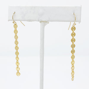 Disc Chain Earrings in Gold