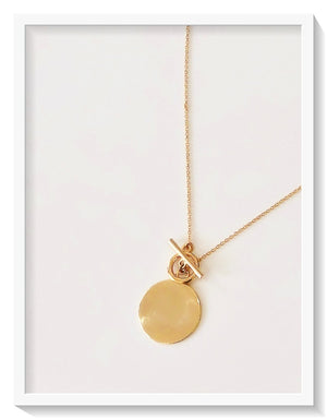 SALE! The Coco Coin Toggle Necklace in Gold