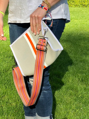 Patterned Strap in Orange
