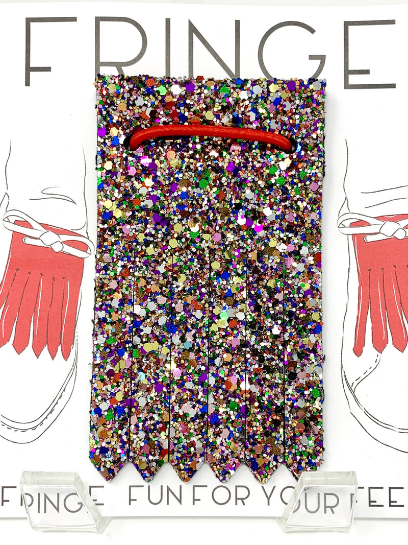 Shoe Fringe Long in Confetti Glitter