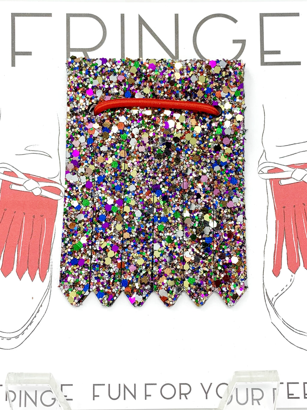 Shoe Fringe Short in Confetti Glitter