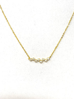 Stars Align Necklace in Gold