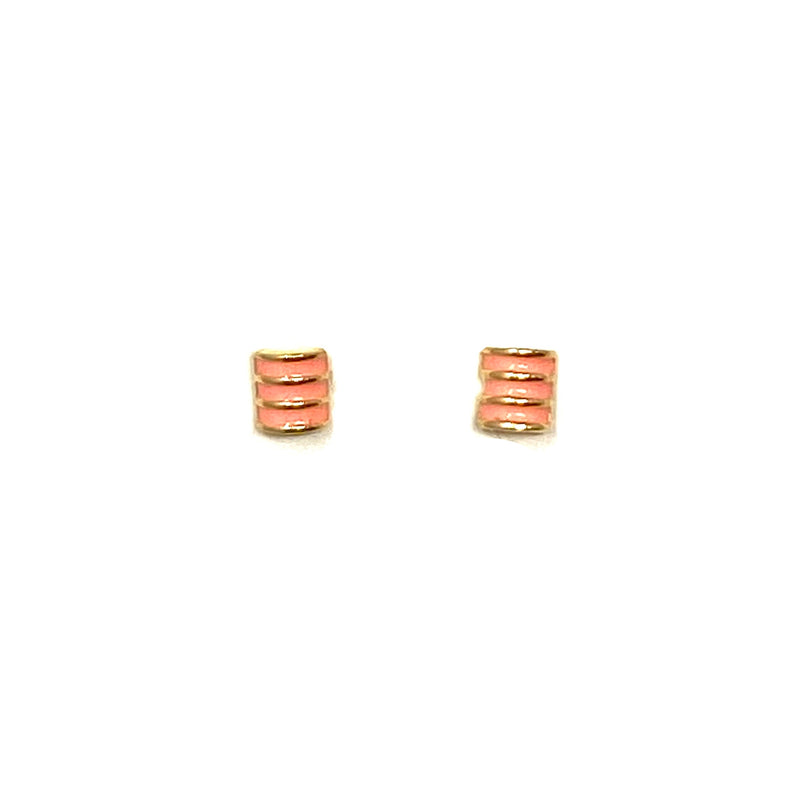 Summer Studs in Coral