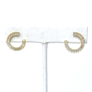 The Claire Circle Studs in Gold