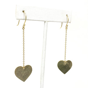 Unchained Heart Earrings in Gold