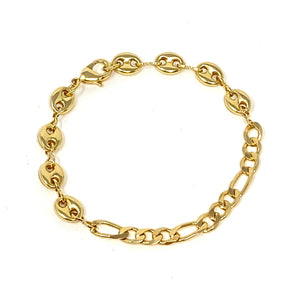 Dylan Chainlink Bracelet in Gold