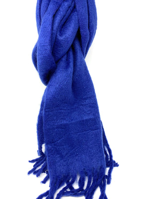 SALE! Cozy Fluffy Scarf in Electric Blue