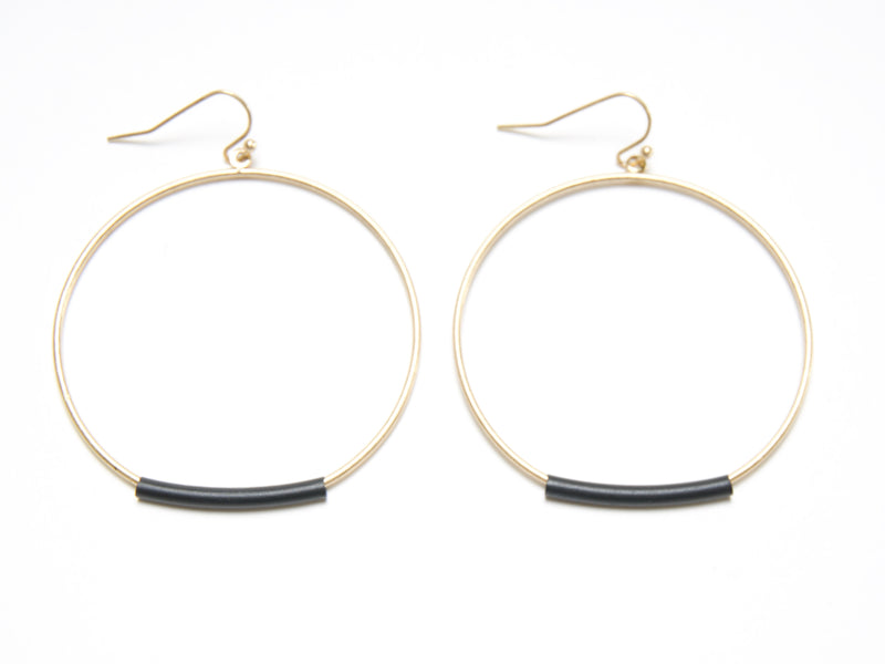 Chrissy Hoops in Gold with Black