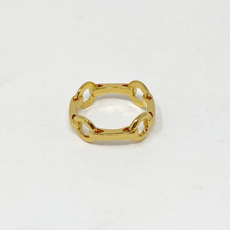 Equestrian Chainlink Ring in Gold