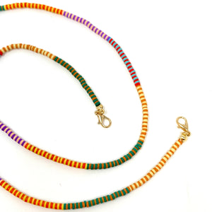 Mask Chain in Rubber Beaded Fall Stripe