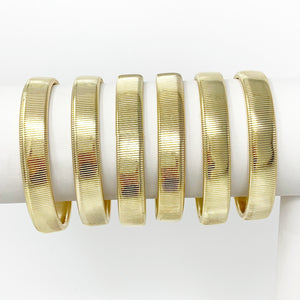 Lisa Single Coil Bracelet in Gold