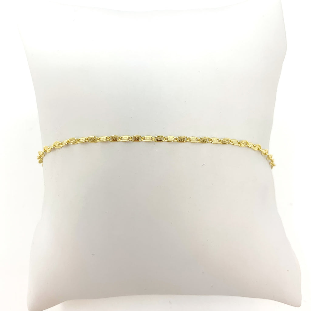 Glitter Chain Anklet in Gold