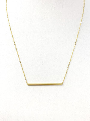 Solid Bar Necklace in Gold
