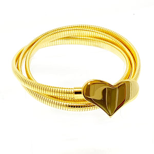 Coil Heart Wrap Bracelet OR Belt