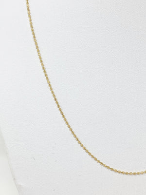 Ball and Chain Gold Necklace