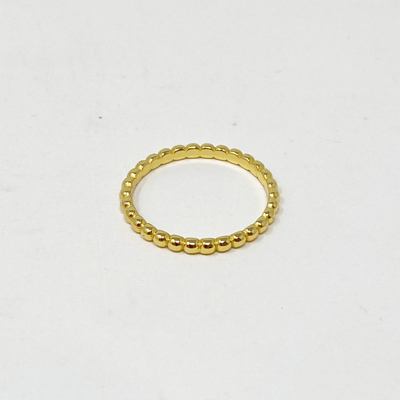 Delicate Ball Ring in Gold