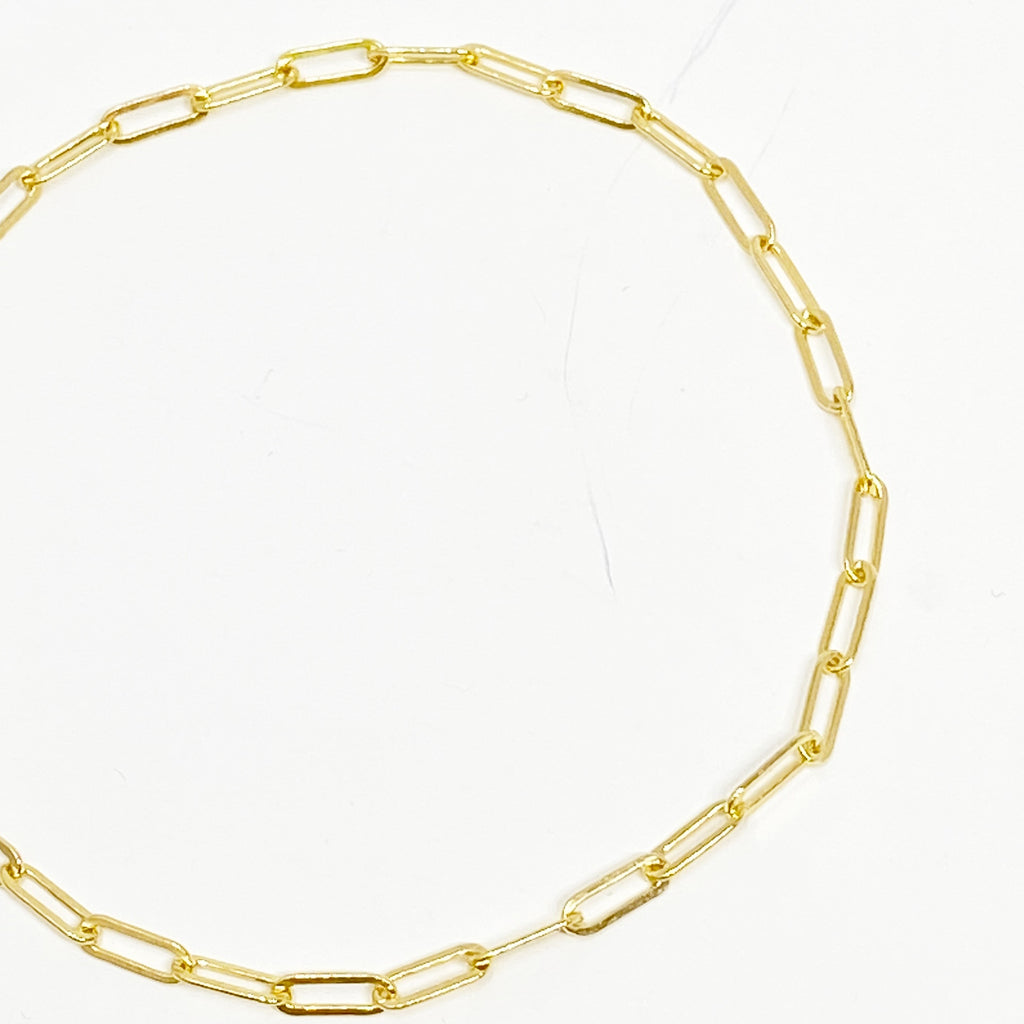 Chainlink Anklet in 14K Gold